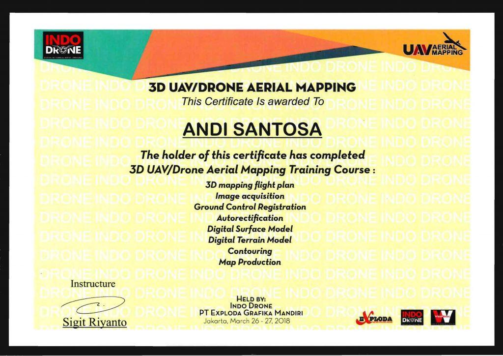 Sertifikat Mapping Andi Santosa