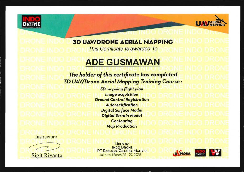 Sertifikat Mapping Ade G